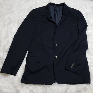 Tommy Hilfiger Men's Classic Super 100 Navy Blazer